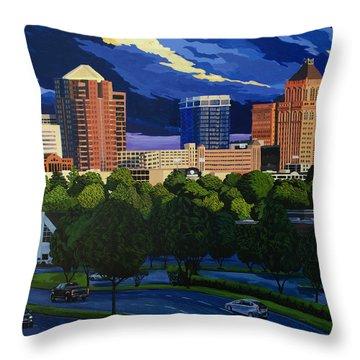 Greensboro Skyline In The Sunshine Throw Pillow