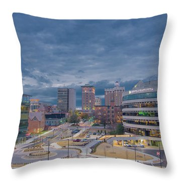 Throw Pillow featuring the photograph Greenville Night 1 by David Waldrop