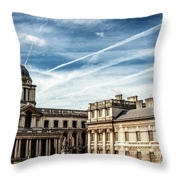 Greenwich University Throw Pillow