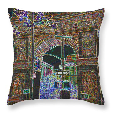 Greenwich Village Ny  Throw Pillow