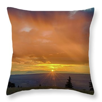 Greet The Marble View Morning Throw Pillow