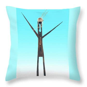 Greeter Figure Throw Pillow