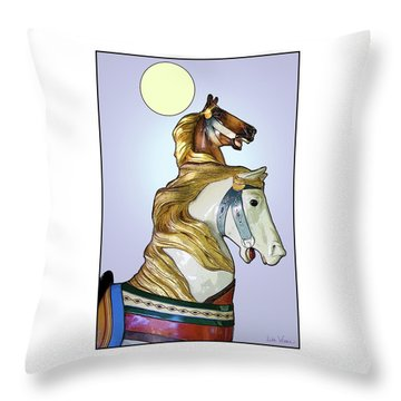 Throw Pillow featuring the digital art Greeting The Moon by Lise Winne