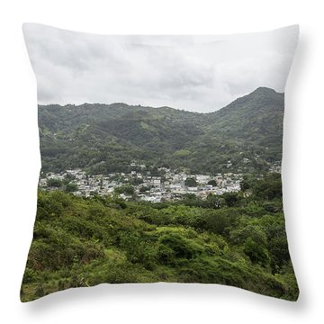 Greetings From My Hometown Throw Pillow