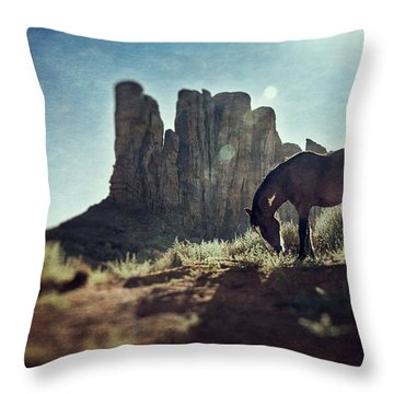 Greetings From The Wild West Throw Pillow