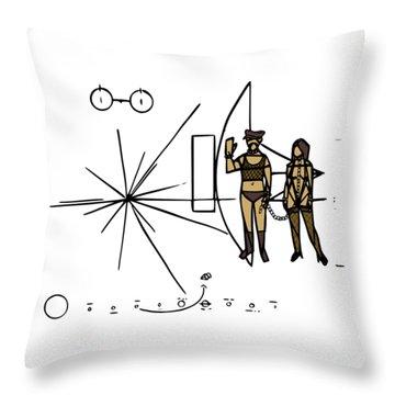 Greetings From Xxi Century Throw Pillow