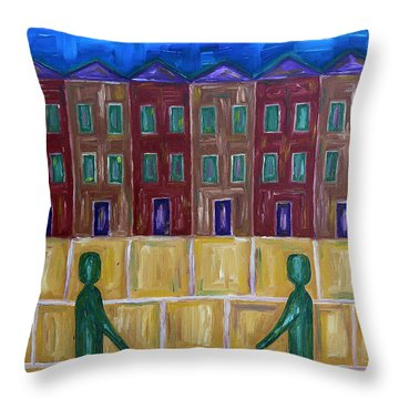 Greetings Throw Pillow by Patrick J Murphy