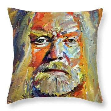 Greg  Allman Tribute Portrait Throw Pillow