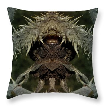 Throw Pillow featuring the photograph Gremlin by WB Johnston