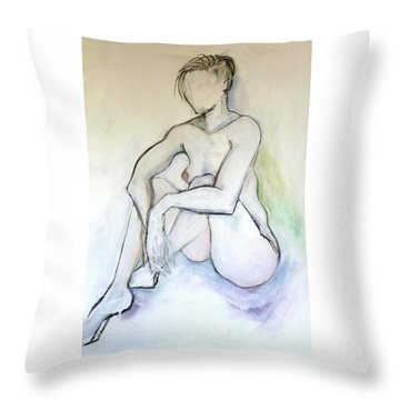 Gretchen - Female Nude Drawing Throw Pillow
