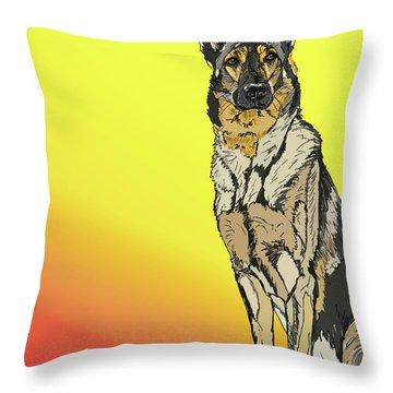 Gretchen In Digital Throw Pillow