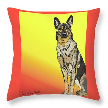 Gretchen In Digital Throw Pillow