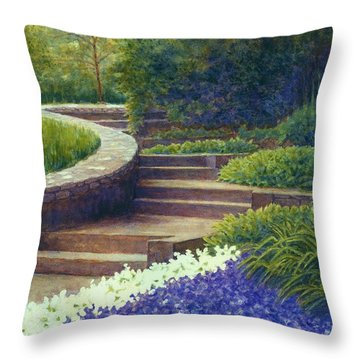 Gretchen's View At Cheekwood Throw Pillow