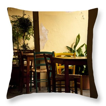Greve In Chianti Patio Throw Pillow by Rae Tucker