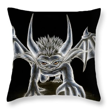 Throw Pillow featuring the painting Grevil Pastel by Shawn Dall