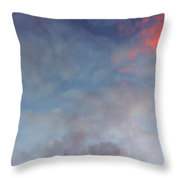 Throw Pillow featuring the photograph Pink Flecked Sky by Linda Hollis