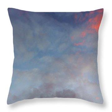 Pink Flecked Sky Throw Pillow by Linda Hollis