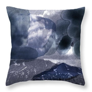 Grey Clouds Throw Pillow