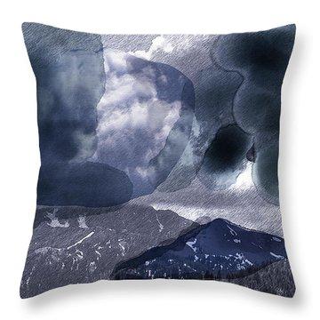 Grey Clouds Throw Pillow