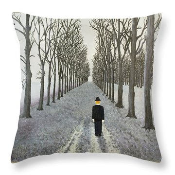 Grey Day Throw Pillow by Thomas Blood