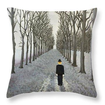 Grey Day Throw Pillow