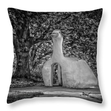 Grey Goose Throw Pillow