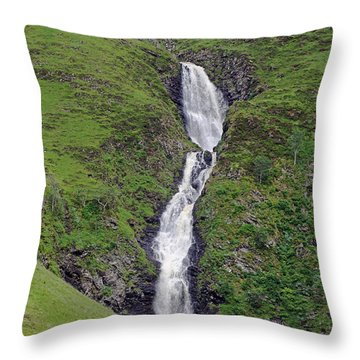 Grey Mare's Tail Throw Pillow