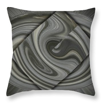 Grey On Grey Throw Pillow