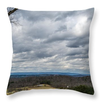Grey Skies Throw Pillow