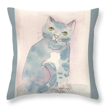Grey Tabby Throw Pillow