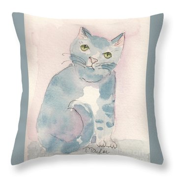 Grey Tabby Throw Pillow