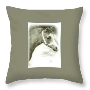 Grey Welsh Pony  Throw Pillow