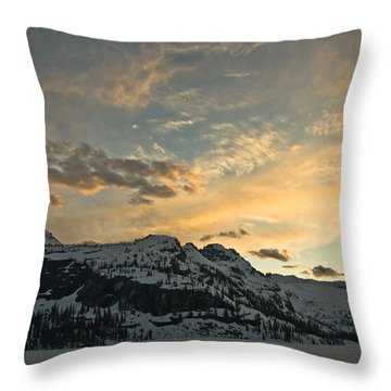 Grey Wolf Lake Throw Pillow