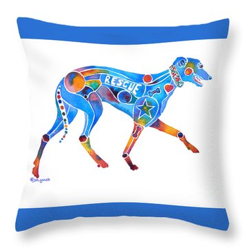 Greyhound Rescue Gffl Throw Pillow