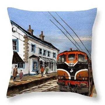 Greystones Railway Station Wicklow Throw Pillow