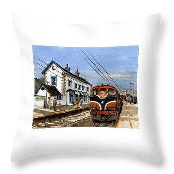 Greystones Railway Station Wicklow Throw Pillow