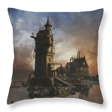 Grid Station 5 Throw Pillow