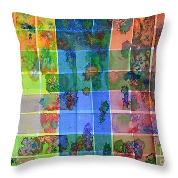 Gridlock Throw Pillow by Holly York