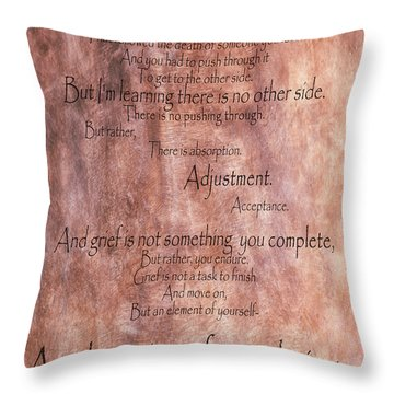 Throw Pillow featuring the mixed media Grief 1 by Angelina Vick