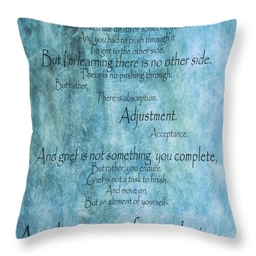 Throw Pillow featuring the mixed media Grief 2 by Angelina Vick