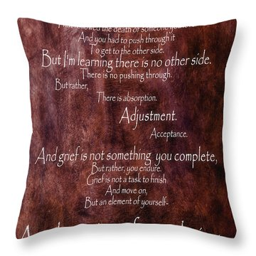 Throw Pillow featuring the mixed media Grief 3 by Angelina Vick