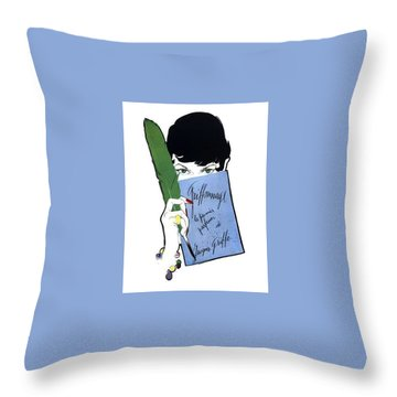 Throw Pillow featuring the digital art Griffe by ReInVintaged