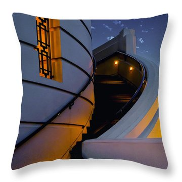 Griffith Observatory Side Entrance Throw Pillow
