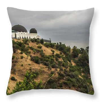 Throw Pillow featuring the photograph Griffith Park Observatory by Ed Clark