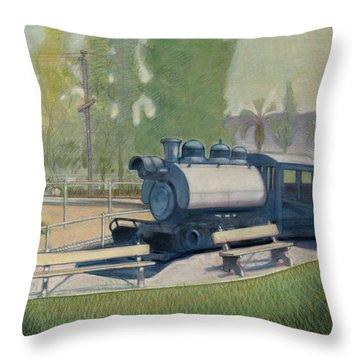 Travel Town Throw Pillow