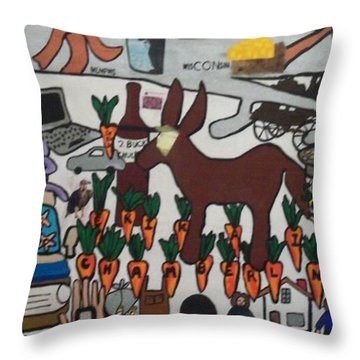 Throw Pillow featuring the painting Griffter by Erika Chamberlin