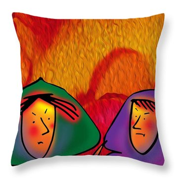 Griffyn And Harlyn Hate Their Cloaks Throw Pillow