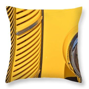Grilled Chrome To Yellow Throw Pillow