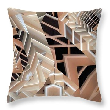 Throw Pillow featuring the digital art Grilled by Ron Bissett