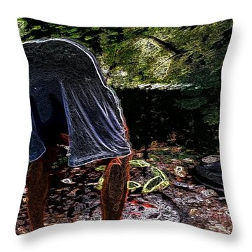 Grilling Out Throw Pillow